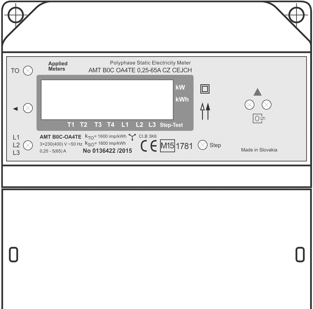 Elektroměr 3F Applied Meters AMT B0C-OA4TE (0,25-65 A)